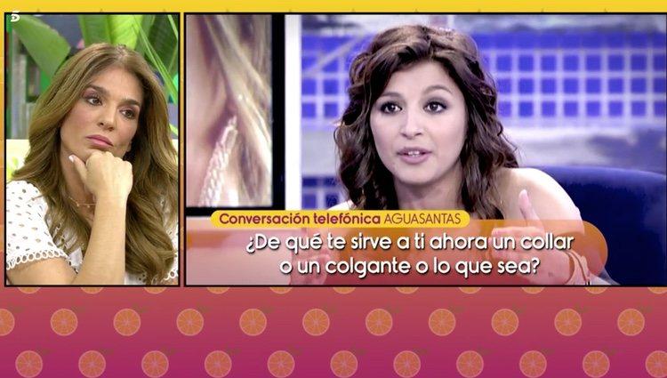 Aguasantas en 'Sálvame' | Foto: Telecinco.es