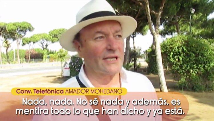 Amador Mohedano habla con 'Sálvame' | Foto: Telecinco.es