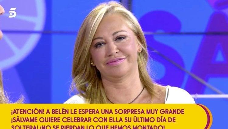Belén Esteban en su último programa de soltera | Foto: telecinco.es
