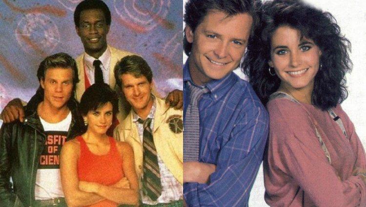 Courteney Cox en las series 'Los rebeldes de la ciencia' y 'Enredos de familia' | CBS | NBC