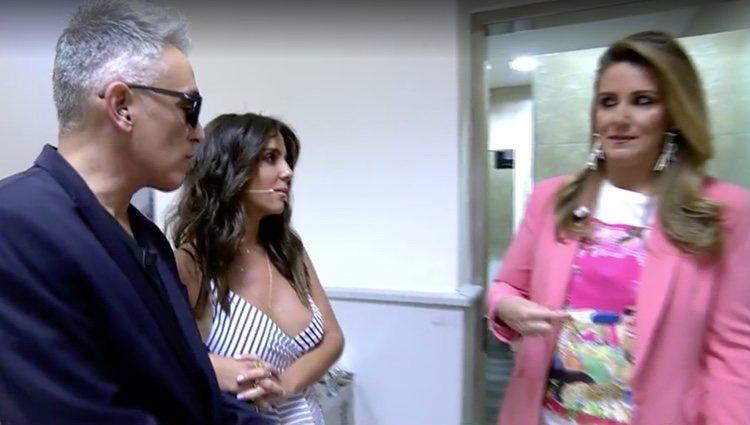 Anabel Pantoja se hace el test de embarazo en directo / Foto: Telecinco.es