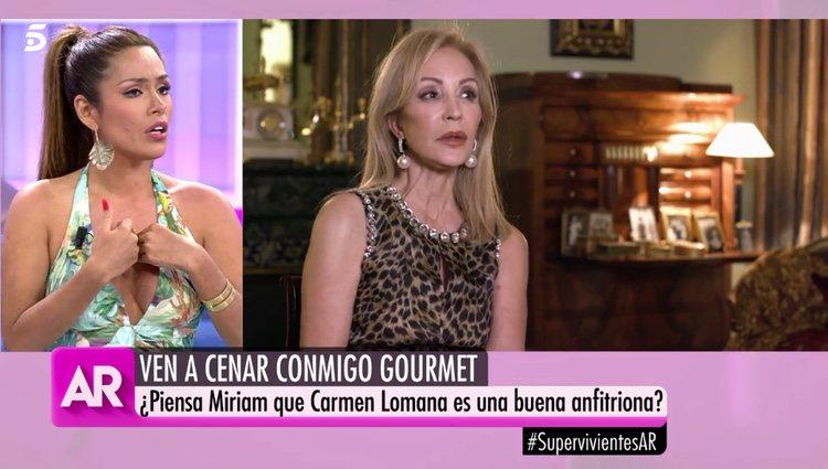 Miriam Saavedra hablando de Carmen Lomana / Telecinco.es