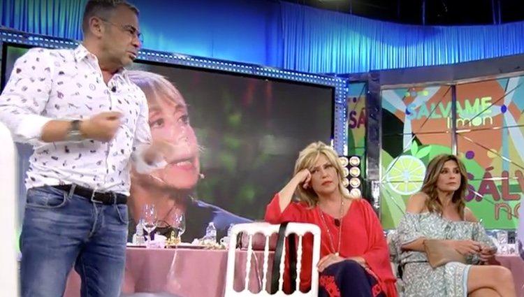 Jorge Javier Vázquez hablando sobre Chelo García Cortés / Foto: Telecinco.es