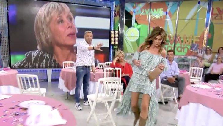 Gema López se marcha del plató de 'Sálvame' / Foto: Telecinco.es
