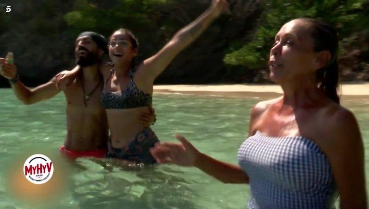 Isabel Pantoja, Dakota Tárraga y Fabio Colloricchio en 'Supervivientes 2019' Foto: Telecinco