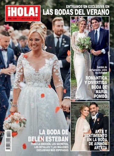 La portada de Hola con Belén Esteban en su boda