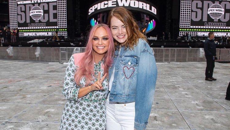 Emma Stone y Emma Bunton en el concierto de las Spice Girls/ Foto:Instagram