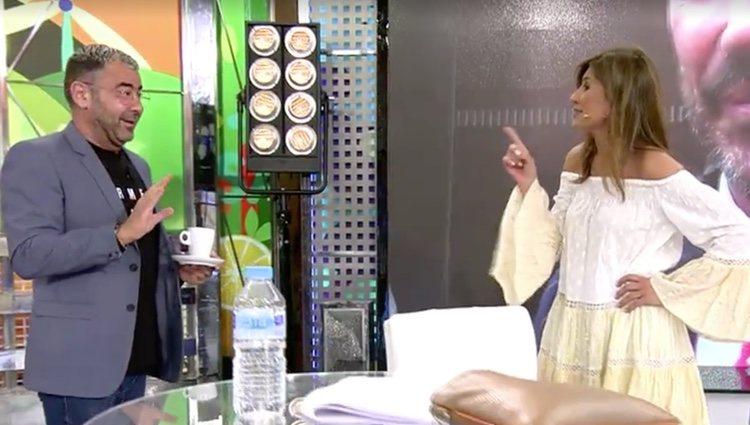 Gema López se reencuentra con Jorge Javier / Foto: Telecinco.es
