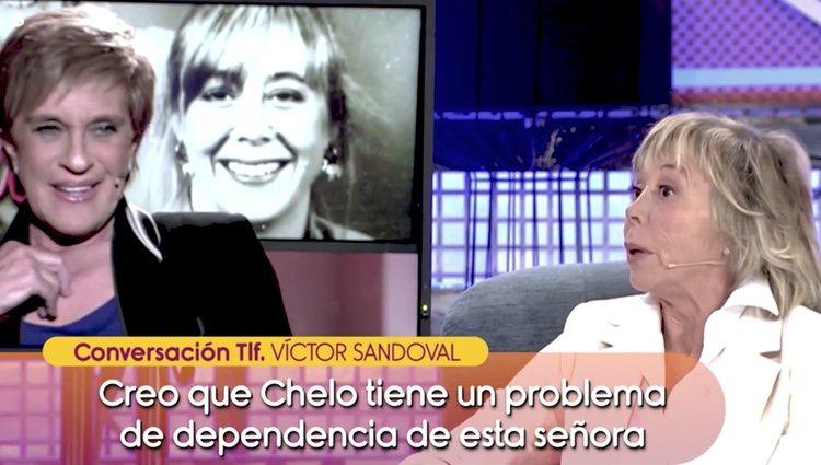Víctor Sandoval en llamada de teléfono con 'Sálvame' arremetiendo contra Marta Roca Foto: Telecinco