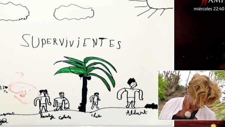 El dibujo especial de Roscón para su tío Colate | Foto: Telecinco