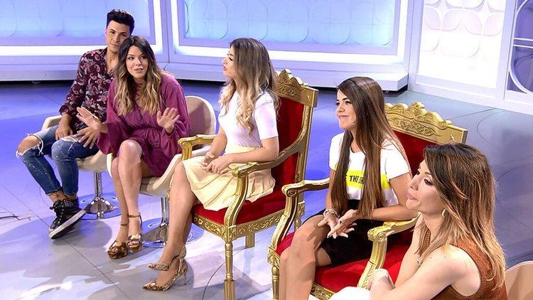Laura Matamoros con otros compañeros en 'MYHYV'/ Foto: cuatro-com