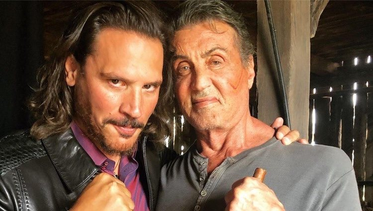 Sergio Peris Mencheta y Sylvester Stallone juntos en el rodaje de 'Rambo 5' Foto: Instagram @perismencheta