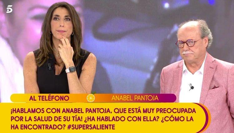 Anabel Pantoja hablando por teléfono con 'Sálvame' / Telecinco.es