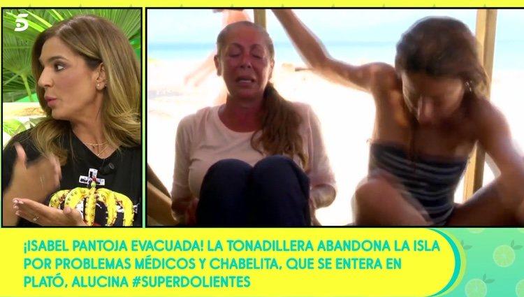 Raquel Bollo hablando de la salud de Isabel Pantoja / Telecinco.es