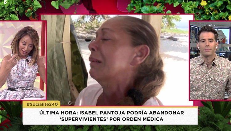María Patiño habla en 'Socialité' sobre el estado de salud de Isabel Pantoja en 'Supervivientes 2019' Foto: Telecinco
