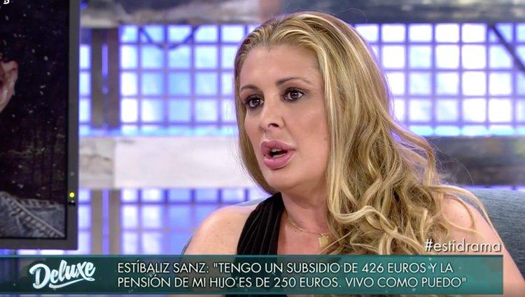 Estíbaliz San en 'Sábado Deluxe'/Foto: telecinco.es