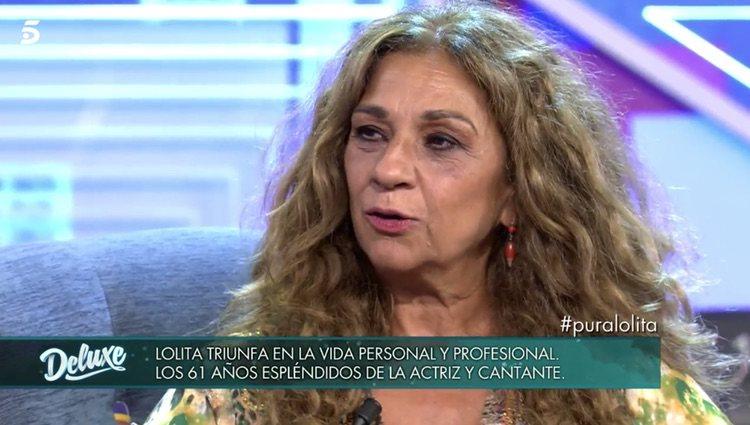 Lolita Flores durante una entrevista en 'Sábado Deluxe'/ Foto: telencinco.es