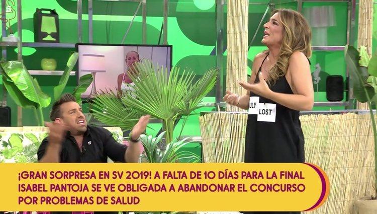 Raquel Bollo y Rafa Mora discutiendo en 'Sálvame' Foto: Telecinco