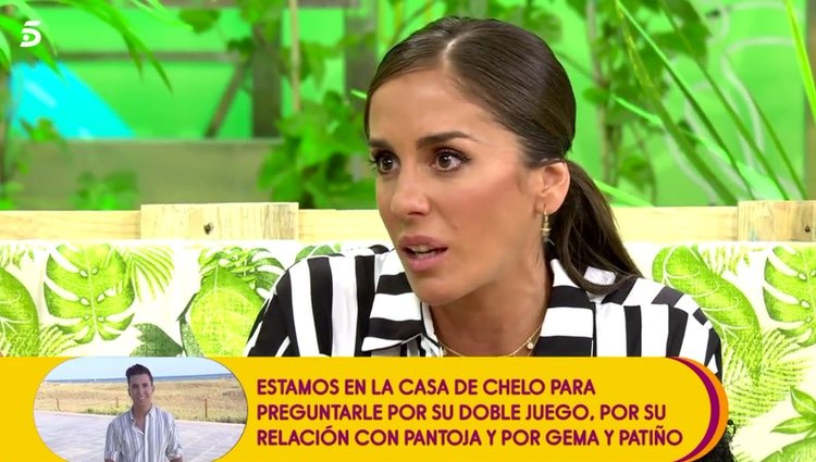 Anabel Pantoja explicando la ausencia de Irene Rosales / Telecinco.es