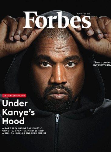 Kanye West en la portada de Forbes / Foto: Forbes.com