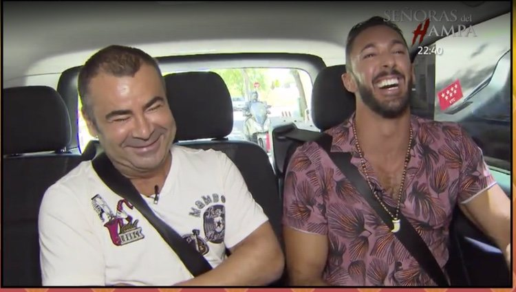 Jorge Javier y Jesús Rodríguez en el coche rumbo a Telecinco / Foto: Telecinco.es
