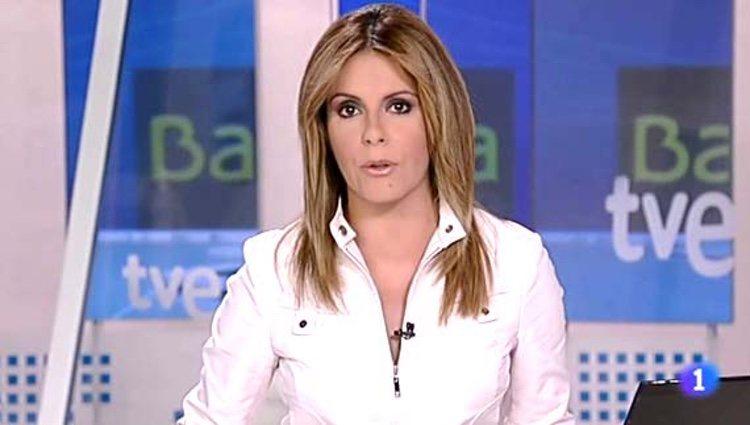 Pilar García Muñiz presentando el telediario de La 1