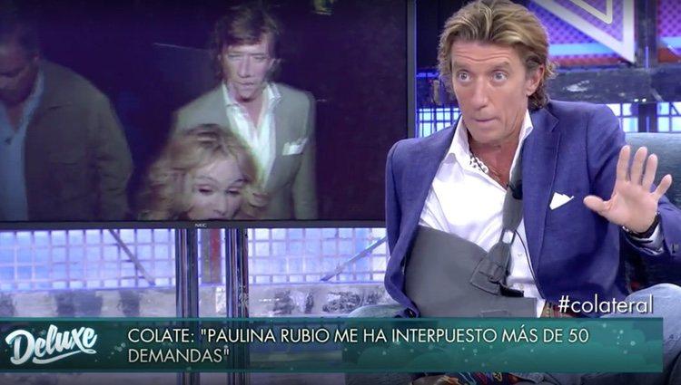 Colate hablando sobre Paulina Rubio / Foto: Telecinco.es