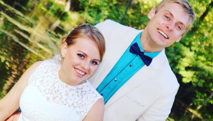 Tatiana y su marido el día de su boda | Instagram
