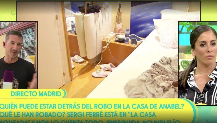 Imágenes del desorden que dejaron los cacos en la casa de Anabel / Foto: Telecinco.es