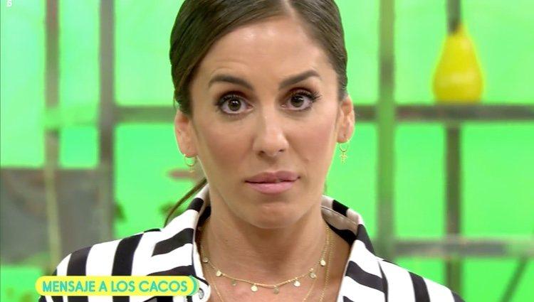 Anabel le envía un duro mensaje a los cacos / Foto: Telecinco.es