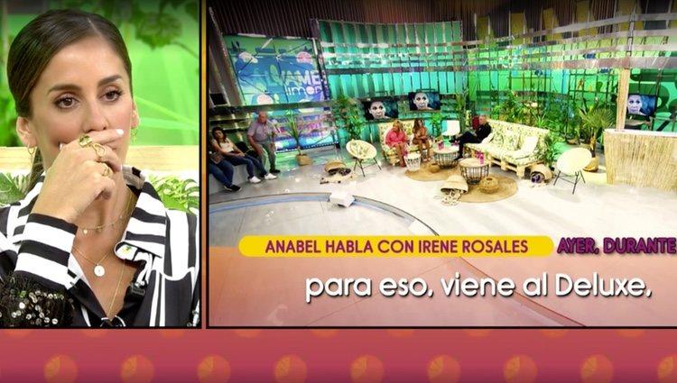 La conversación telefónica entre Anabel e Irene Rosales / Foto: Telecinco.es