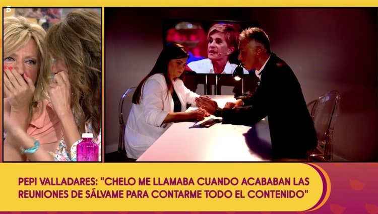 Pepi Valladares escribe alguna de las cosas que ha sabido sobre Gema López a través de Chelo Foto: Telecinco