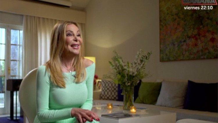 Ana Obregón durante su entrevista en 'Lazos de sangre'/Foto:TVE