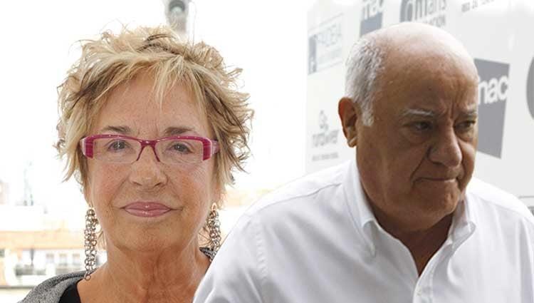 Rosalía Mera y Amancio Ortega, padres de Sandra Ortega