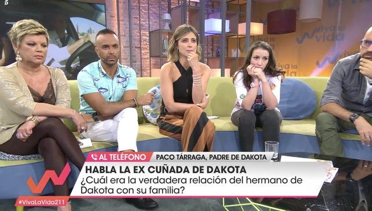 Terelu Campos, Luis Rollán, Sandra Barneda, Sara ex cuñada de Dakota en 'Viva la vida'