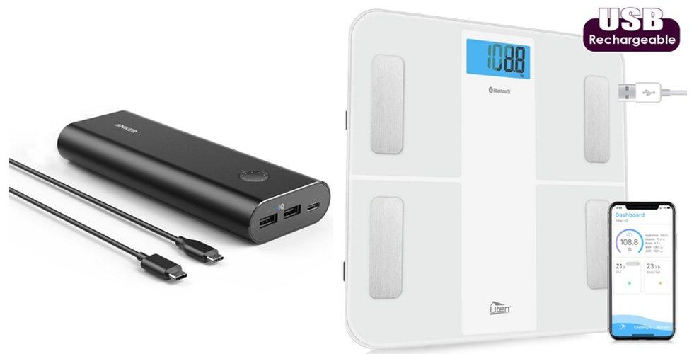 Báscula inteligente y batería portátil