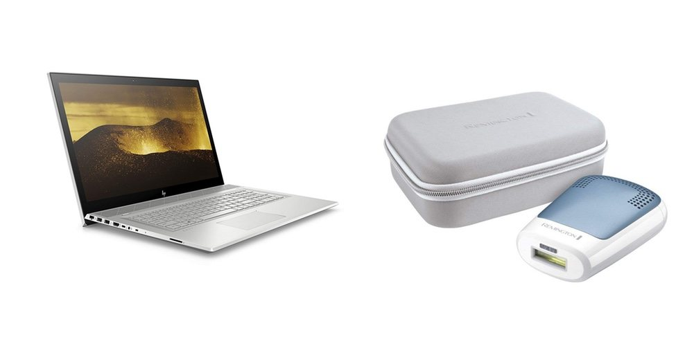 Portátil HP Envy y depiladora portátil unisex