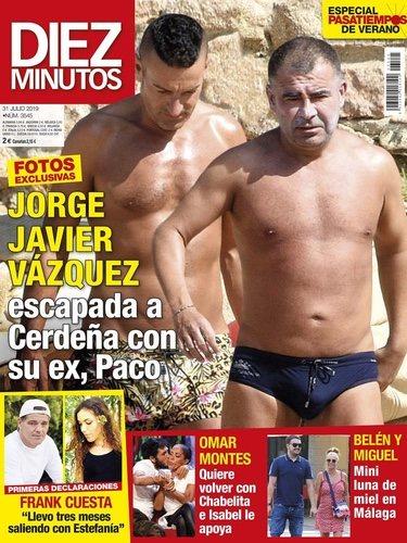 Jorge Javier y Paco en la portada de Diez Minutos
