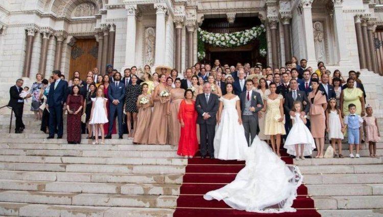 La foto de familia de la boda de Louis Ducruet y Marie Chevallier
