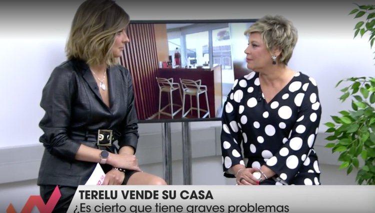 Terelu Campos con Sandra Barneda / Foto: Telecinco.es