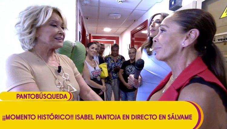 Mila Ximénez e Isabel Pantoja hablando |Foto: telecinco.es