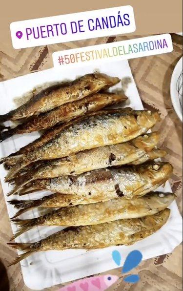 Las sardinas que se comieron Paula Echevarría y Miguel Torres/ Foto: Instagram
