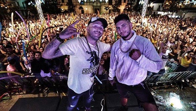 Omar Montes y Kiko Rivera juntos de concierto / Instagram