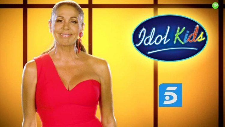 Isabel Pantoja anunciando 'Idol Kids' en Telecinco
