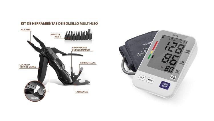 Kit de herramientas de bolsillo y tensiómetro