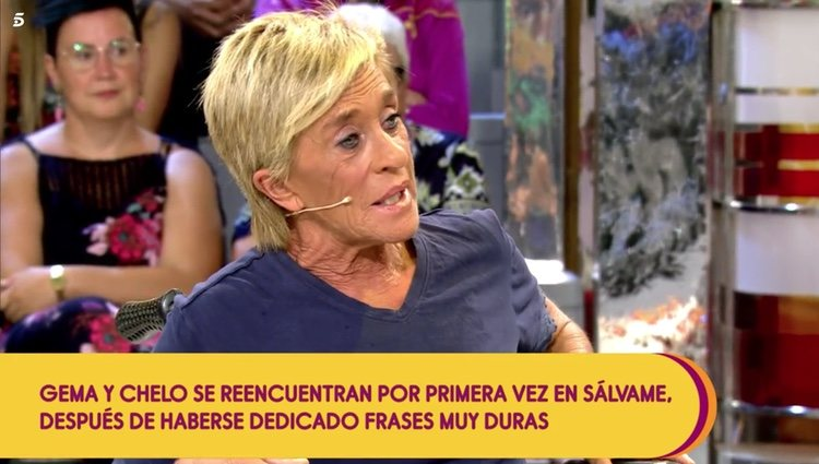 Chelo García Cortés pide pedón a Gema López por todo lo que ha dicho y hecho Foto: Telecinco