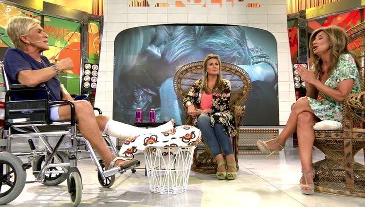 Gema López reprende a Chelo García Cortés que vaya contando cosas privadas a terceros/ Foto: Telecinco