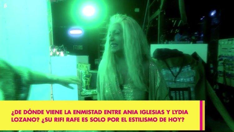 Lydia Lozano llorando tras los comentarios de Ania Iglesias Foto: Telecinco