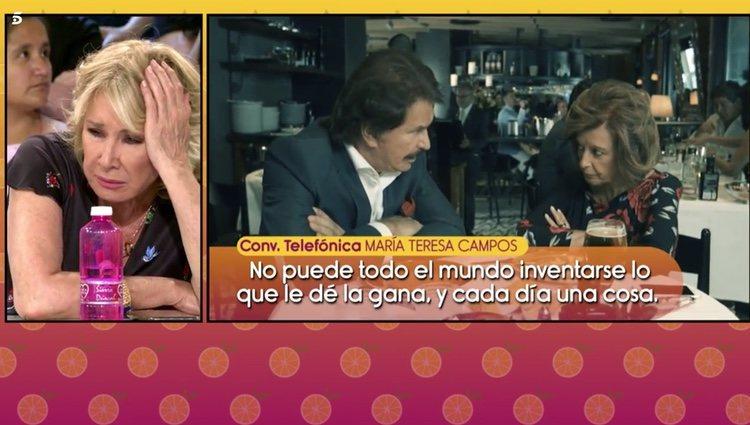 María Teresa Campos carga contra 'Sálvame' en su llamada telefónica Foto: Telecinco