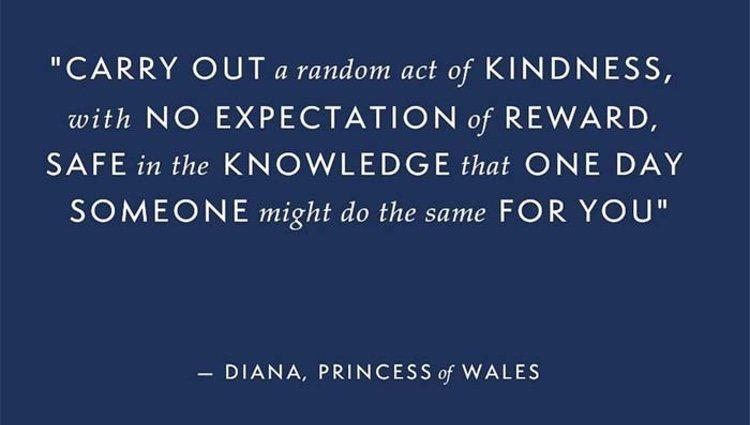 La frase de Lady Di publicada en la cuenta de Instagram de los Duques de Sussex